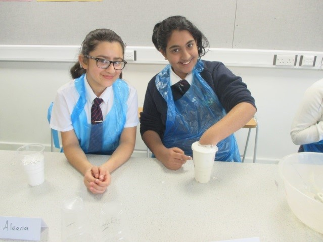 two pupils from BGGS in a practical food technology lesson